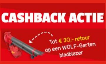 € 30 CASHBACK op bladblazers!