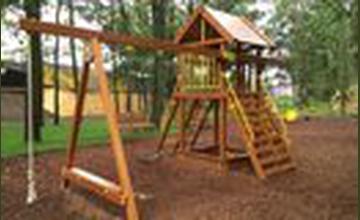 15% korting op houten speelhuizen en torens bij Fun